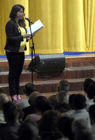 Laura, durante la Gala.    Foto: Tony Hernández Mena/AIN.