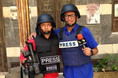 Los enviados especiales a Siria, William Parra (derecha) y William Moreno (izquierda) se encontraban debidamente identificados.