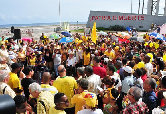 Acto político-cultural en el Monte de las banderas. Foto: Ladyrene Pérez/Cubadebate.