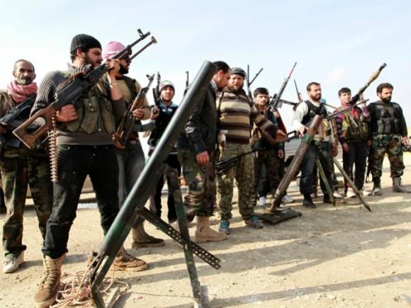"""Los llamados """"rebeldes sirios""""."""