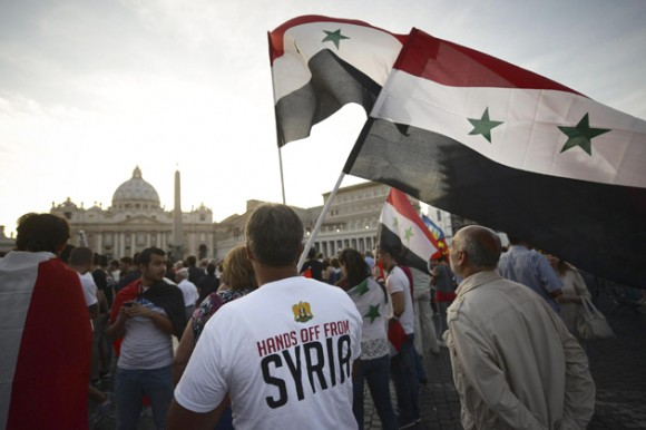 Pope Francis calls for peace in Syria
