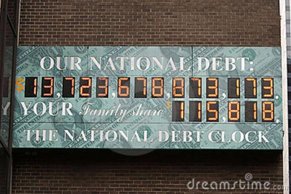 El reloj que marca la deuda de Estados Unidos podría colapsar.