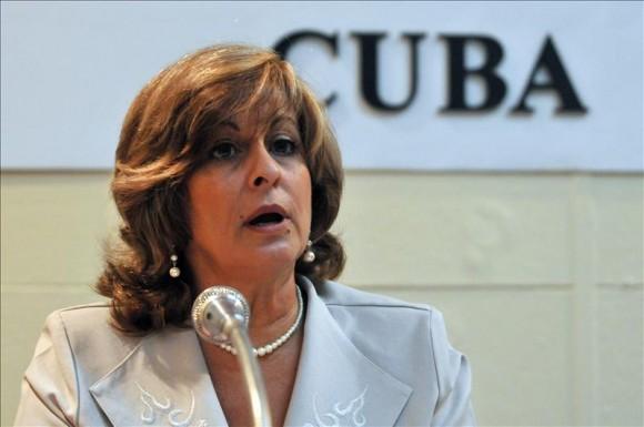 Ministra de Justicia de Cuba, María Esther Reus.