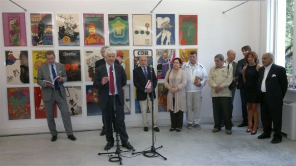Claudio Pedrotti, alcalde de Pordenone, en la Inauguración de MIRA CUBA.