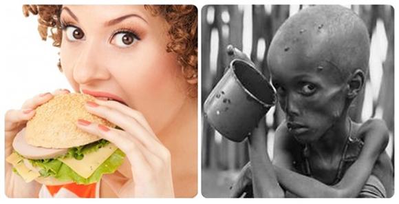 Los consumidores de los países ricos malgastan prácticamente la misma cantidad de comida (222 millones de toneladas) que la producción neta de alimentos del África Subsahariana (230 millones de toneladas).