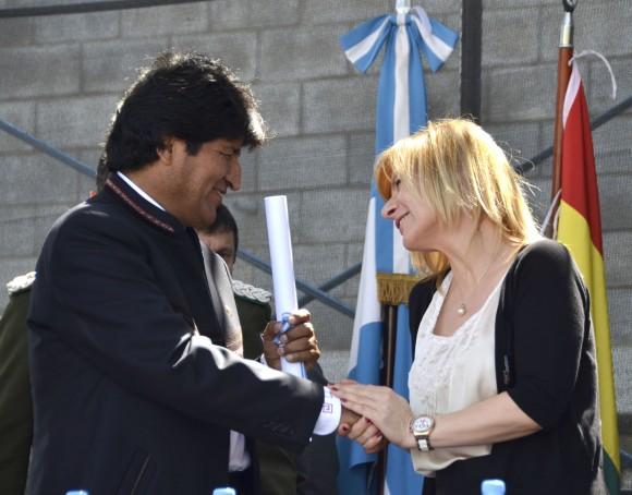 Evo Morales en la Facultad de Peridosimos de La Plata fotos Kaloian (19)