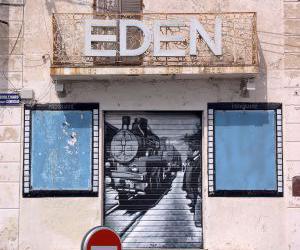 Fachada del Teatro Eden antes de su restauración. Foto: Francois Collard.