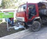 Este es el resultado de la negligencia de un chofer, que sabiendo que el camión le fallaba la dirección, andaba maniobrando por las calles del municipio Carlos Manuel de Céspedes en la provincia de Camaguey. Así fue como pudo frenar el carro. Foto de Yaricel Torres Ramírez, Lector de Cubadebate