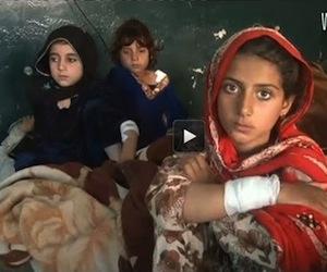 Niños víctimas de los drones en Paquistán.