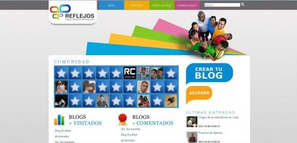 Reflejos plataforma blog cubana