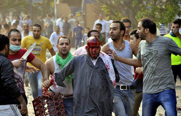 Violencia en las calles de Egipto