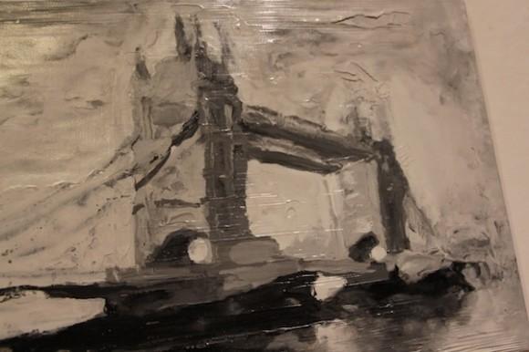 Los enigmas de los puentes, de José Eduardo Yaque en la Galería Servando Cabrera.