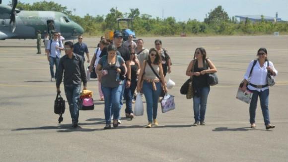 Galenos del Programa Más Mécicos, que impulsa la Presidentge brasileña Dila Rousseff, llegan al Estado de Roraima.