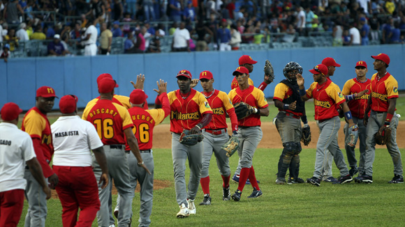 Matanzas celebra la victoria. Foto: Ladyrene Pérez/Cubadebate.