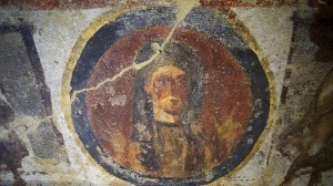 Imagen de Lázaro restaurada, Catacumbas de Priscilla.