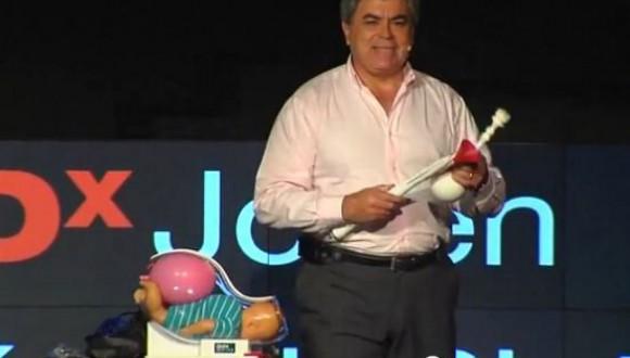 Jorge Odón con su invento. Foto: Toronto Star.