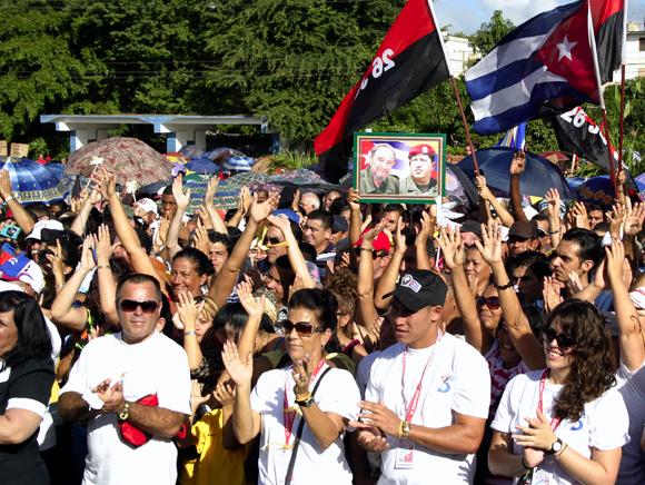 Acto por los Cinco en Holguín. Foto: Daylén Vega / Cubadebate.