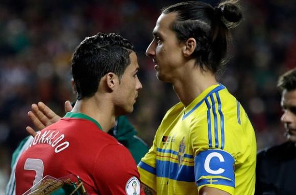 Cristiano-Ronaldo-y-Zlatan-clasificacion Mundial brasil 2014