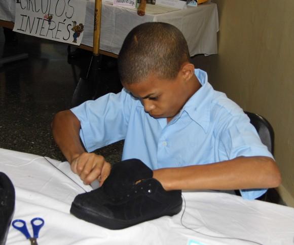 Alumno de la EFI en círculo de interés. Foto: Abraham Jiménez.