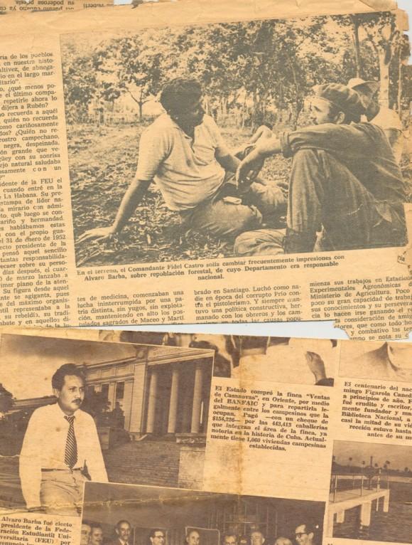 Fidel durante uno de sus recorridos hizo un alto y platicó con Alcides, uno de los hermanos de Álvaro.