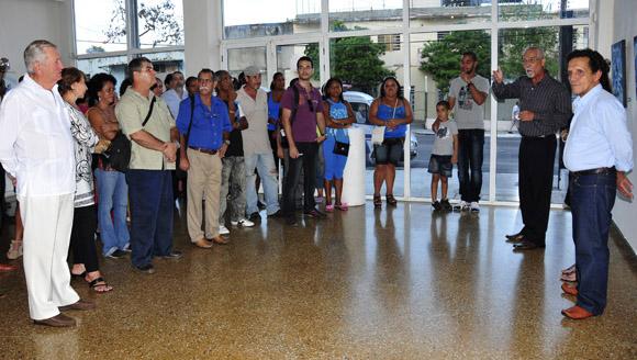 Inauguración de la exposición Ciudad Azul. Foto: Ladyrene Pérez/Cubadebate.