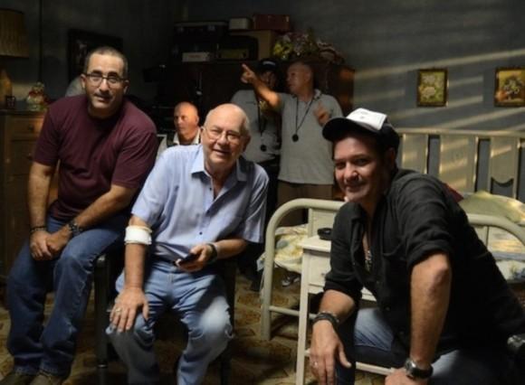 Fidel Antonio Orta, Miguel Barnet y Jorge Perugorría. Foto: Cubarte.