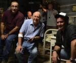 Fidel Antonio Orta, Miguel Barnet y Jorge Perugorría
