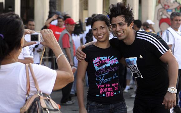 Cantante del grupo musical  Los Ángeles en Marabana 2013. Foto: Ismael Francisco/Cubadebate.