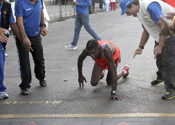 Jorge Luis Suárez llegó gateando en segundo lugar al Marabana 2013. Foto: Ismael Francisco/Cubadebate.