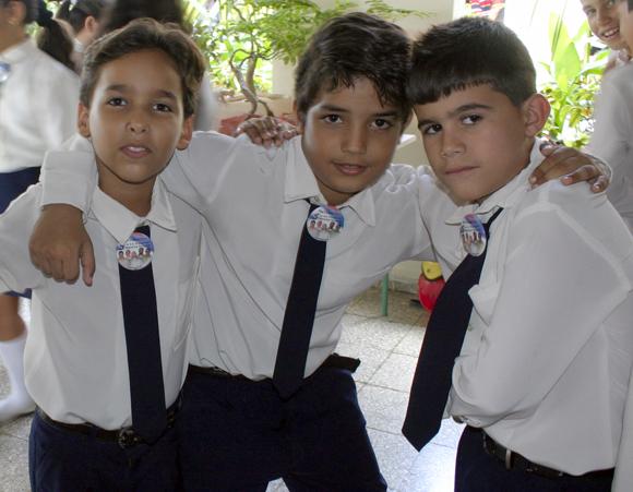 Niños del Coro Opus David, de la escuela primaria Dalquis Sánchez. Foto: Daylén Vega / Cubadebate.