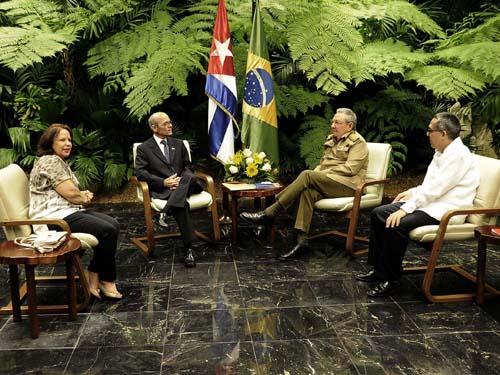 Raúl recibió a embajador de Brasil