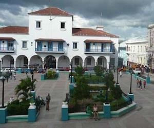 El Parque Céspedes, de Santiago de Cuba.