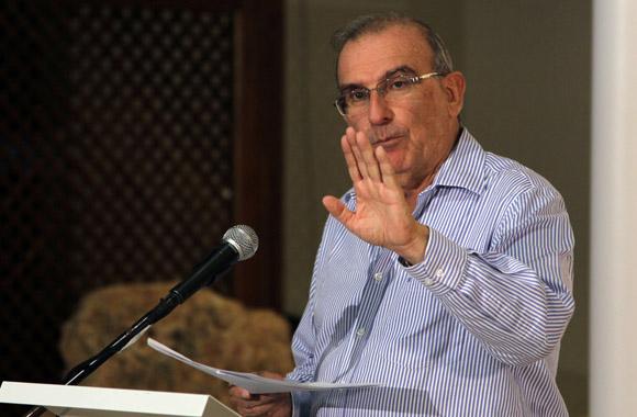 Humberto de la Calle, representante del gobierno de Colombia. Foto: Ismael Francisco/Cubadebate.