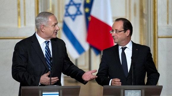 francois hollande y Netanyaju