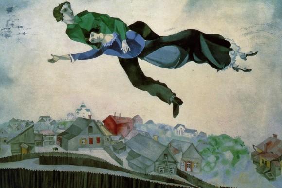 Sobre la ciudad. Detalle. (Marc Chagall).