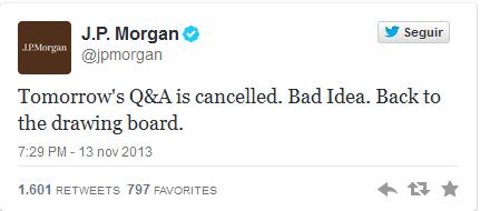 Respuesta de JPMorgan cerrando el debate. Foto: Twitter.com