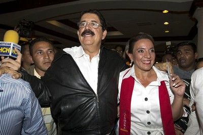 Manuel Zelaya convoca gran movilización para rechazar resultados electorales. Foto: Archivo.