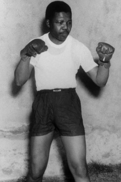 En 1950, Mandela fue boxeador.