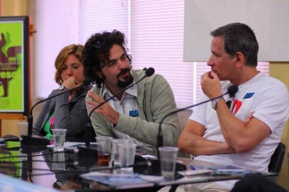 Espacio Detrás de la fachada sobre financiamiento y desarrollo de proyectos audiovisuales (Foto Claudia Ruiz)