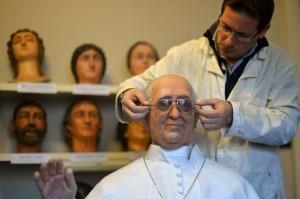 El Papa Francisco inmortalizado en cera.