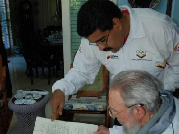 Fidel y Maduro 1