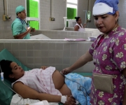 Paciente en la sala preparto. Foto: Ladyrene Pérez/Cubadebate.