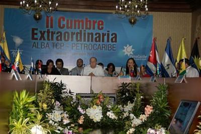 Cancilleres de los países del ALBA y Pterocaribe se reunieron en Caracas. Foto: Cancilería.