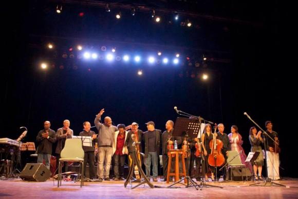 Créeme: los músicos en el Concierto de Vicente Feliú. Foto: Facebook de Vicente Feliú.