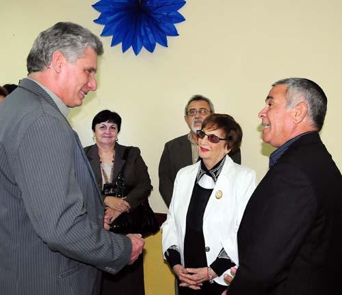 Miguel Diaz-Canel,Primer Vicepresidente de los Consejos de Estado y de Ministros,asiste a Fiesta Januca de la Comunidad Judia.(foto Jorge Luis Gonzàlez)