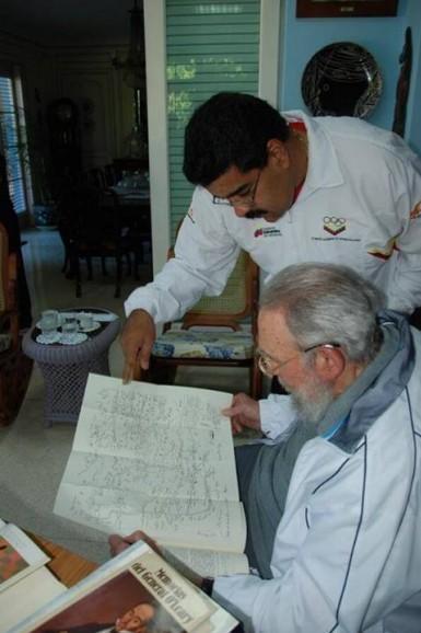 Encuentro de Fidel y Maduro en La Habana, el 21 de diciembre de 2013. Foto: Alex Castro.