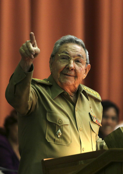 Clausura Raúl Castro, presidente de Cuba, sesión plenaria del parlamento cubano.  Foto: Ladyrene Pérez/cubadebate.