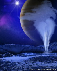 Los chorros de vapor podrían ser la prueba de la existencia de vida.