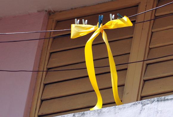 Cada cubano expresó su solidaridad con Los Cinco a su manera. Foto: Ladyrene Pérez/CUBADEBATE