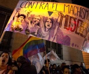 Multitudinaria manifestación en Madrid contra la nueva ley de aborto